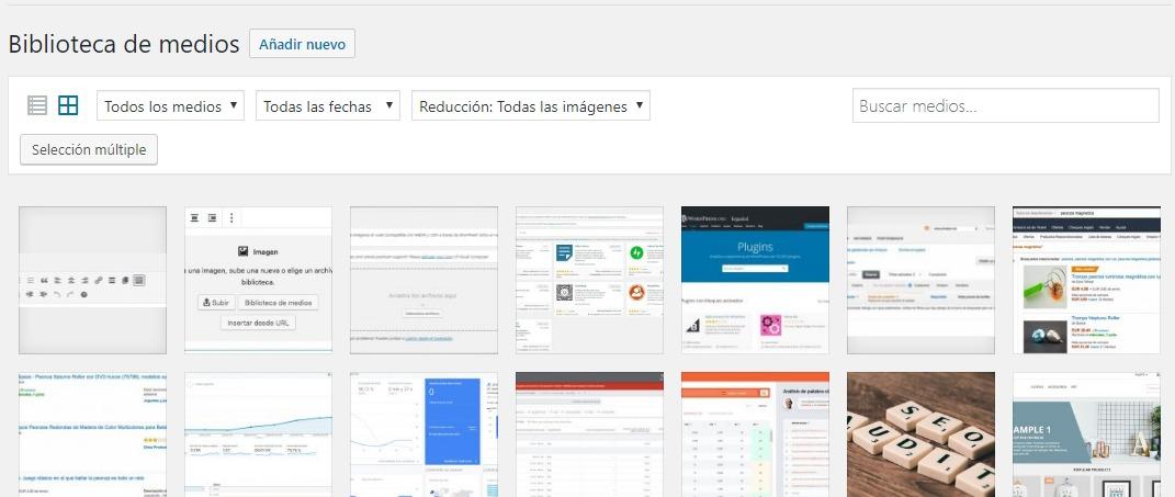 Biblioteca-medios-WordPress