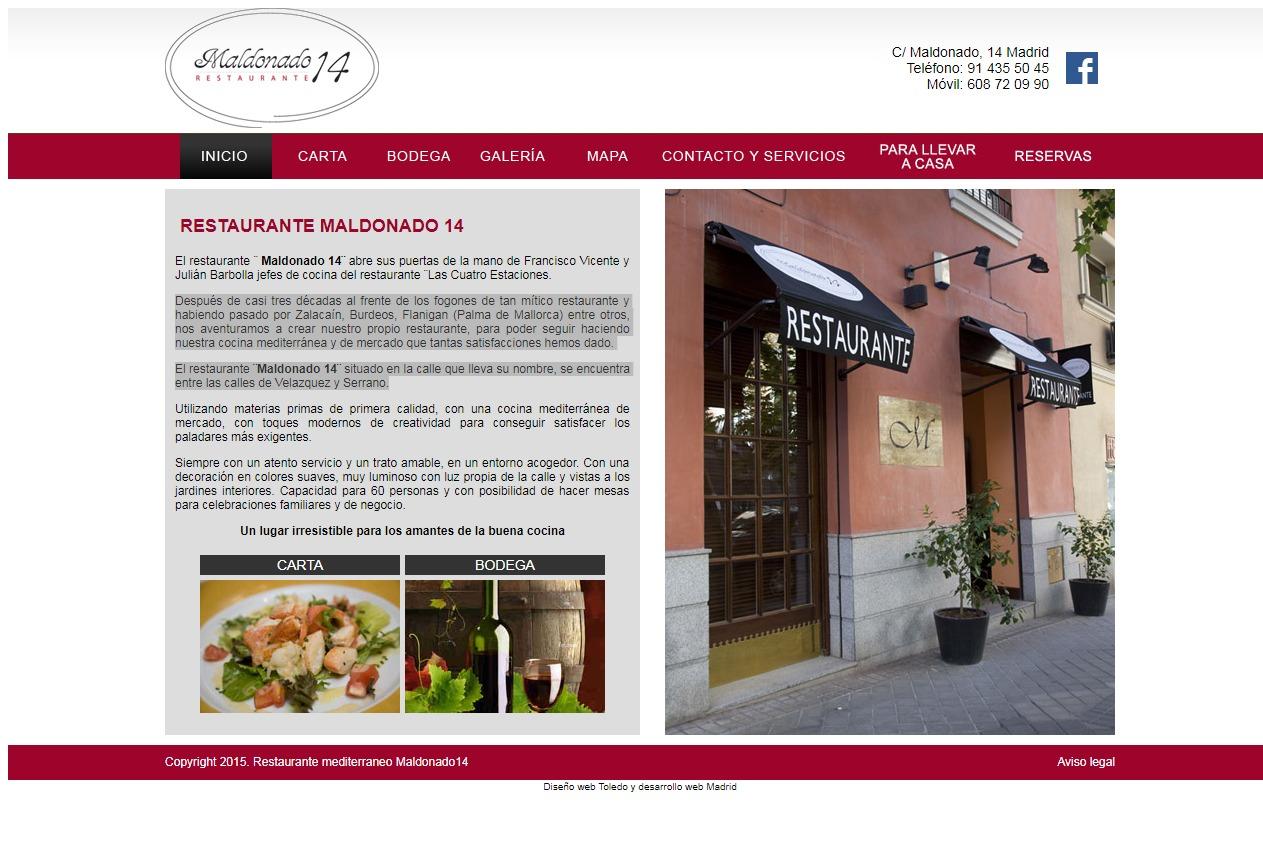 Restaurante maldonado 14 crear mi pagina web for Crear restaurante