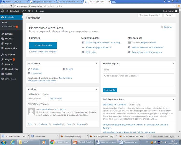 Por qué crear tu página web con wordpress